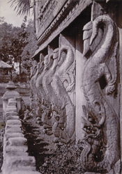 Carving on balustrade of [Taik Taw] monastery, [Mandalay]